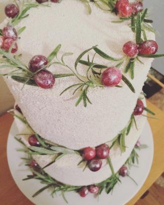 Rosemary & Cranberry Cake